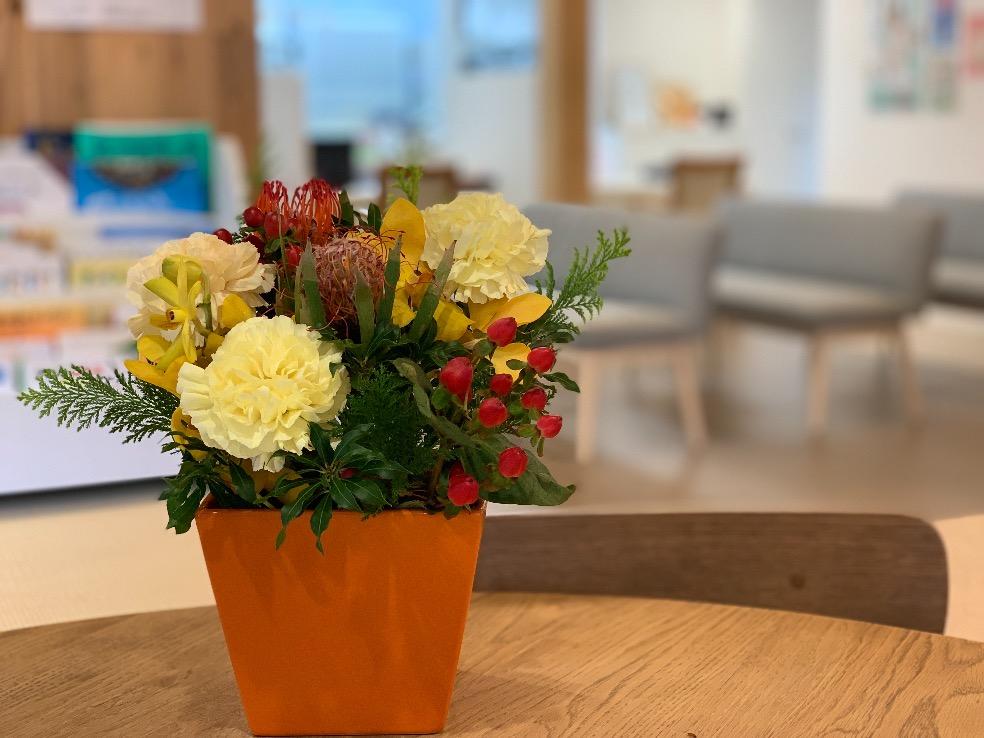みらい薬局のお花